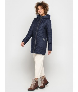 Куртка модель 192 темно-синя