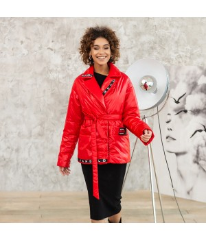 Куртка модель 198 червона