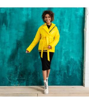 Куртка модель 198 жовта