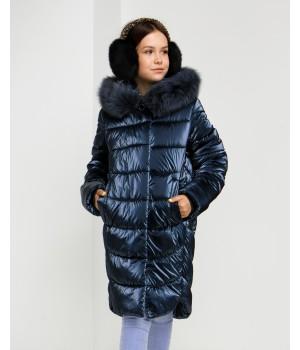 Куртка модель София темно-синий
