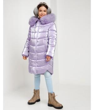 Куртка модель София сиреневій