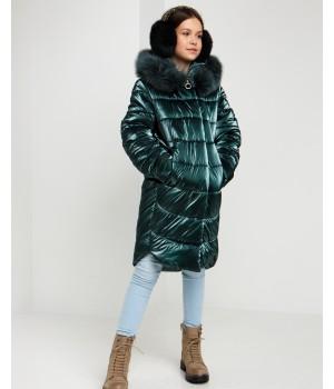 Куртка модель София Columbia смарагд