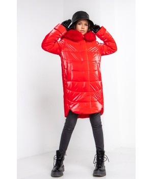 Куртка модель София Columbia червоний