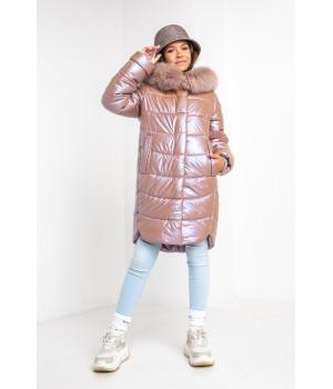 Куртка модель София Columbia рожевий мокко