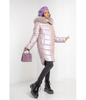 Куртка модель София Columbia світла пудра