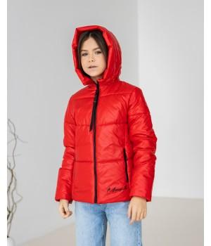 Куртка модель Каміла червоний