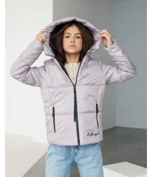 Куртка модель Каміла рожева крига