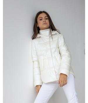 Куртка модель Міра  premium молоко