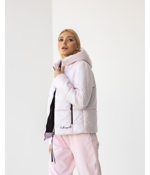 Куртка модель 232 premium рожева перлина