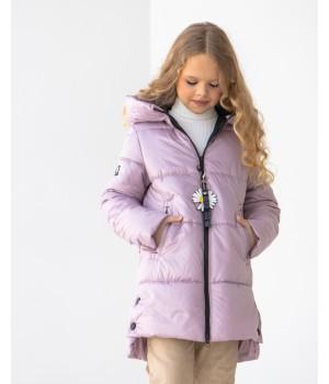 Куртка модель Мілена рожева пудра