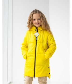 Куртка модель Мілена жовтий