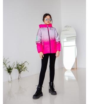 Куртка модель Сабріна малиновий градієнт