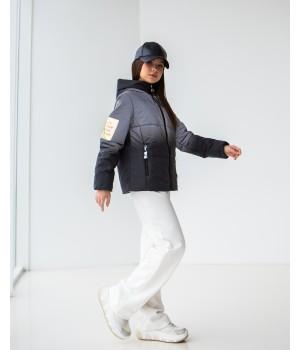 Куртка модель Сабріна чорний градієнт