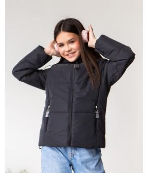 Куртка модель Сабріна чорний рефлект