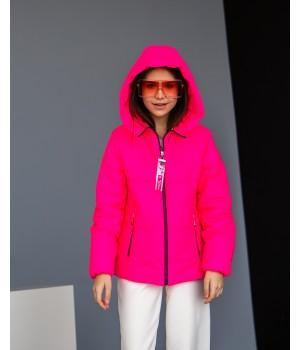 Куртка модель Сабріна малиновий рефлект