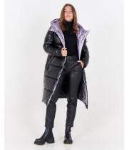 Куртка модель 257 Armani чорний/бузок